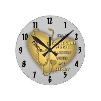 Yellow Cardiac Care Nurse Round Clock