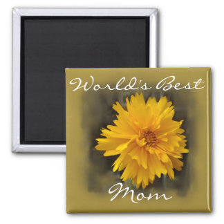 Yellow Carnation 2 Inch Square Magnet