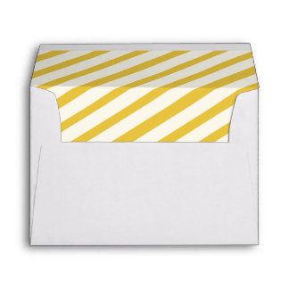 Yellow Carnival Stripes Lined Envelopes