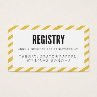 Yellow Carnival Stripes Registry Insert Card