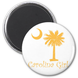 Yellow Carolina Girl Palmetto Refrigerator Magnet