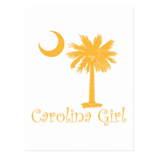 Yellow Carolina Girl Palmetto Postcard