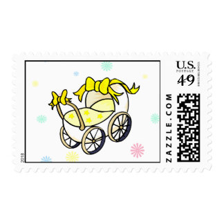 Yellow carriage postage