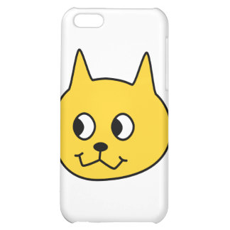 Yellow Cartoon Cat. iPhone 5C Case