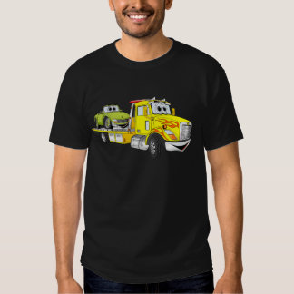 Yellow Cartoon Flatbed Tow Truck Shirts