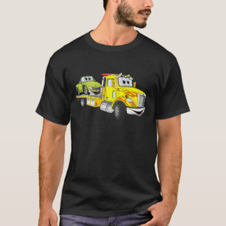 Yellow Cartoon Flatbed Tow Truck T-Shirt