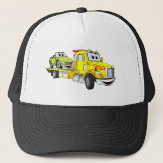 Yellow Cartoon Flatbed Tow Truck Trucker Hat
