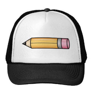 Yellow Cartoon Pencil Trucker Hat