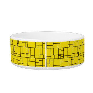 Yellow Cartoon Stone Tile Pattern Bowl