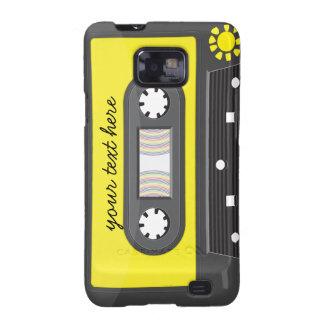 yellow cassette  rainbow Samsung Galaxy Case