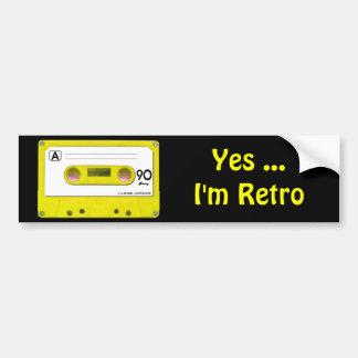 Yellow Cassette Tape Bumper Stickers