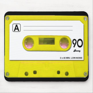 Yellow Cassette Tape Mouse Pad