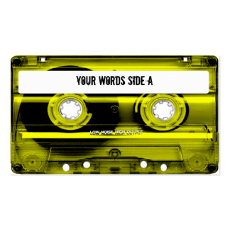 Yellow Cassette Tape Personalized Business Card