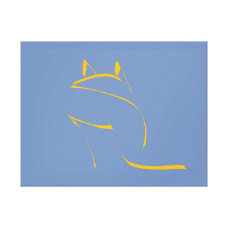 Yellow cat canvas print