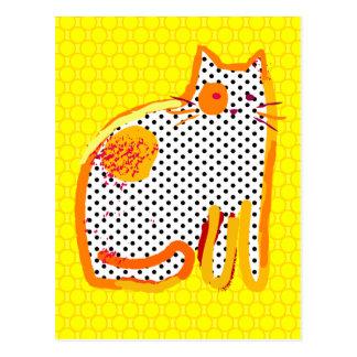 'yellow cat' digital painting Postcard