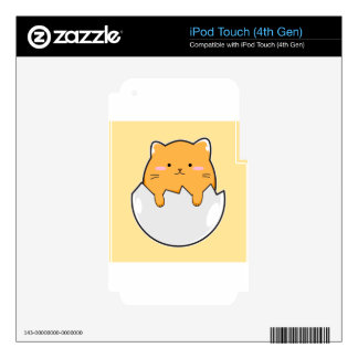 Yellow Cat Egg iPod Touch 4G Decals