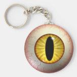 Yellow Cat Eye-Ball Keyring Key Chains