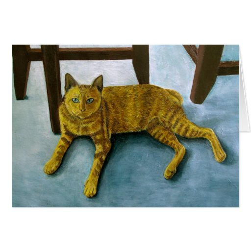 Yellow Cat Greeting Cards