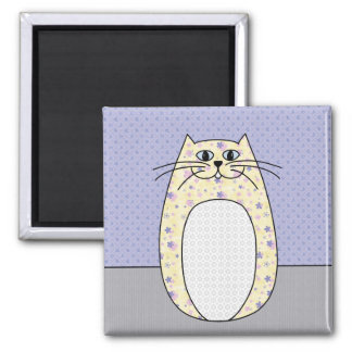 'Yellow Cat' Magnet