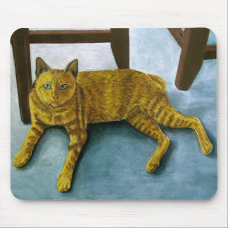 Yellow Cat Mouse Pad