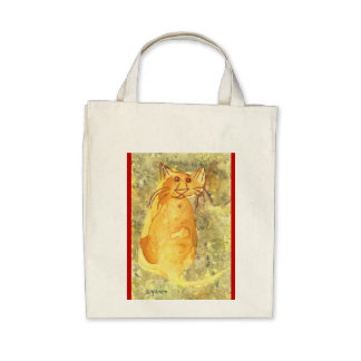 Yellow Cat Organic Grocery Tote Tote Bags