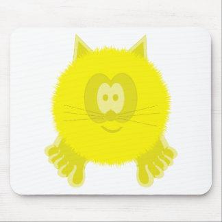 Yellow Cat Pom Pom Pal Mousepad