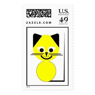 Yellow Cat Postage
