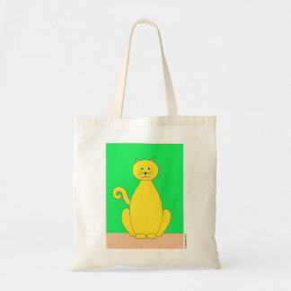 Yellow Cat Tote Canvas Bags