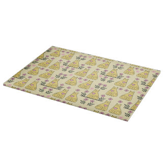 Yellow Cats Cutting Board