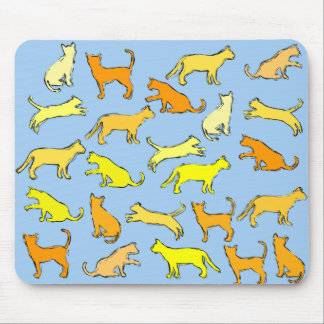 yellow cats mouse pad