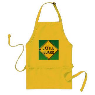 yellow cattle guard apron