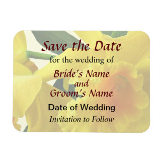 Yellow Cattleya Orchids Save the Date Rectangular Photo Magnet