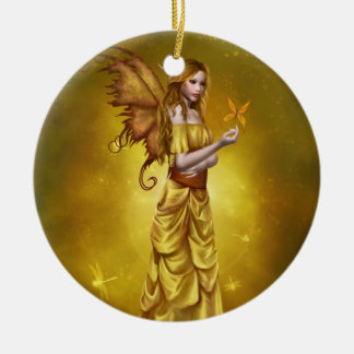 Yellow Celestial Fairy Ornament