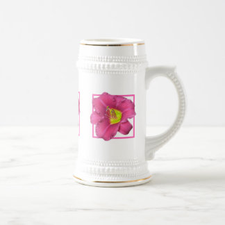 Yellow Centered Pink Flower Mug