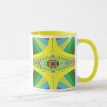 Yellow Centipede Fractal Mug