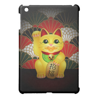 Yellow Ceramic Maneki Neko iPad Mini Cover