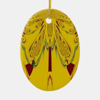 Yellow Ceramic Ornament