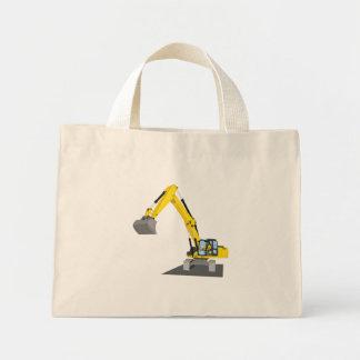 yellow chain excavator mini tote bag