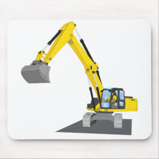 yellow chain excavator mouse pad
