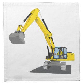 yellow chain excavator napkin