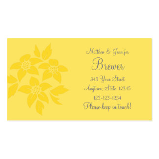 Yellow Change of Address Contact Information Card Business Card