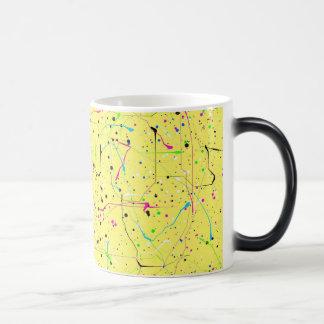 Yellow chaos 11 oz magic heat Color-Changing coffee mug
