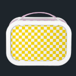 """Yellow Checkerboard Lunch Box<br><div class=""""desc"""">This design is available on more products! Click the 'Available On' Link on this Product page to see them all!  Be sure to check out all options to customize your selection!  Thanks for looking!</div>"""