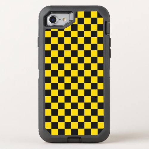 Yellow Checkerboard Phone Case