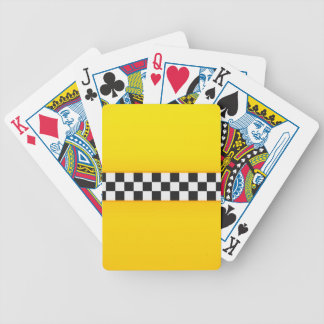 Yellow Checkerboard Pattern Bicycle Playing Cards