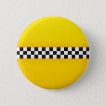 Yellow Checkerboard Pattern Button