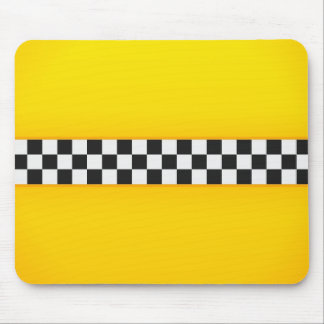 Yellow Checkerboard Pattern Mouse Pad