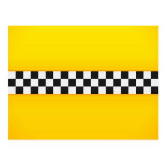 Yellow Checkerboard Pattern Postcard