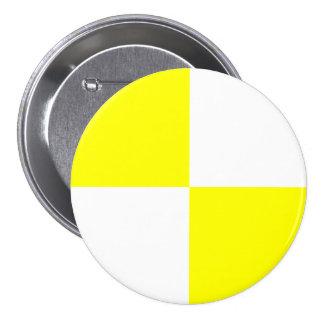 Yellow Checkered Pattern Button