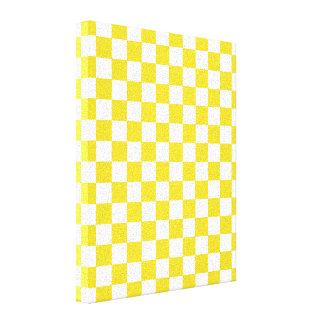 Yellow Checkered Pattern Canvas Print